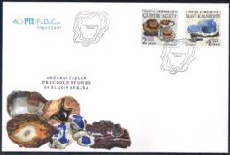 Turchia Turkey [2019] Minerals; Precious Stones - Official FDC - Minerali