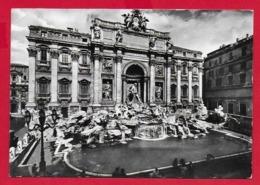 CARTOLINA VG ITALIA - ROMA - Fontana Di Trevi - 10 X 15 - 1963 AFFRANCATURA VATICANO - Fontana Di Trevi