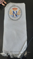 NEGRESCO NICE ANCIEN MENU TISSEE SOIE 1910 RESTAURANT ANTIQUE SILK 06 GASTRONOMIE HOTEL PALACE CUISINE COOKING - Menus