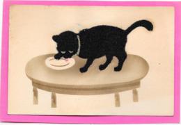 CHATS - Chat Noir En Feutrine - Cats