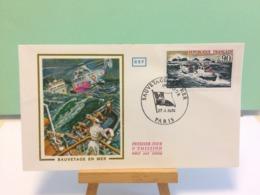 Sauvetage En Mer - Paris - 27.4.1974 FDC 1er Jour Coté 2€ - 1970-1979