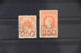 A 436 ++ 1920 NEDERLAND NETHERLANDS 104-105 CANCELLED GESTEMPELD CAT 225€ - Periodo 1891 – 1948 (Wilhelmina)