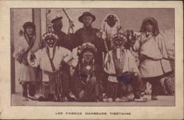 CPA Les Fameux Danseurs Tibétains Tibet Tibettan Dancers Exposition Des Arts Décoratifs Paris 1925 FJ Bhumgara London - Ausstellungen