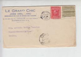 GUATEMALA  1929 - Yvert 227-236 - Moda - Lettera Per  Italia - Guatemala