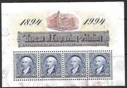 US  1994   Sc#2875 Mini Sheet Of 4 Used   2016 Scott Value $13.50 - United States