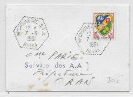 GUERRE D'ALGERIE - 1961 - ENVELOPPE De M'CHOUNECHE S.A.S (BATNA) Avec CACHET HEXAGONAL Des SAS => ORAN - Marcophilie (Lettres)