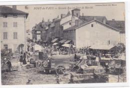 Ain - Pont-de-Vaux - Grande Rue Un Jour De Marché - Pont-de-Vaux