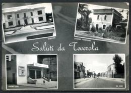 Z1784 TEVEROLA (Caserta CE) Saluti Da, Con 4 Vedutine, FG, Viaggiata 1960 Per Roma E Rispedita A Cuneo, Buone Condizioni - Caserta