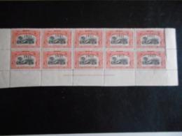 Belgisch Congo Vel Van 10 Zegels Nr 92 ** Postfris - 1894-1923 Mols: Gebraucht