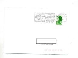 Lettre Flamme Saint Saturnin Statue Talon Pere Truffe - Storia Postale