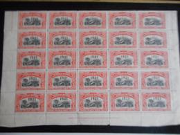 Belgisch Congo Vel Van 25 Zegels Nr 92 ** Postfris - 1894-1923 Mols: Gebraucht