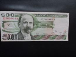MEXIQUE : 500 PESOS    29.6.1979    P 69      TTB - Messico
