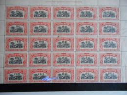 Belgisch Congo Vel Van 20 Zegels Nr 92 **waarvan 1 Met Varieteit Kokosnoot + 5 Met WATERMERK (1 Zegel Met Gaatje) - Congo Belga