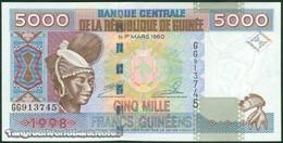 TWN - GUINEA 38 - 5000 5.000 Francs 1998 Prefix GG UNC - Guinea