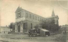 300919 - 59 LOOS église Notre Dame De Grâce - Roulotte Attelage Marchand CHOCOLAT POULAIN Pub - Loos Les Lille
