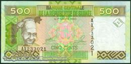 TWN - GUINEA 39a - 500 Francs 2006 Prefix AX UNC - Guinea