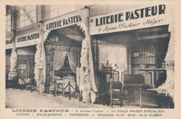 ALGER - LITERIE PASTEUR - 9 AVENUE PASTEUR - LA SEULE MAISON SPECIALISEE (FOIRE D'ALGER 1934 BON DE REMISE) - Algiers