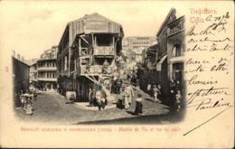 TIFLIS    Montée De Vin Et Rue Du Sable - Géorgie