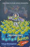 Télécarte ARGENT Japon / MF-1002197 - DISNEY DISNEYLAND - FILM - BUZZ LIGHTYEAR'S - Movie Japan SILVER Phonecard - Disney