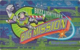 Télécarte ARGENT Japon / MF-1002310 - DISNEY DISNEYLAND - FILM - BUZZ BIG MISSION - Movie Japan SILVER Phonecard - Disney