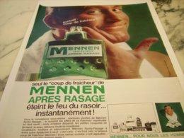 ANCIENNE  PUBLICITE    APRES RASAGE MENNEN 1966 - Perfume & Beauty