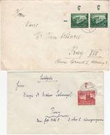 DR - 6+12 Pfg. Eupen/Malmedy Bogenränder 2 Briefe Oderberg - Prag 1940 - Allemagne