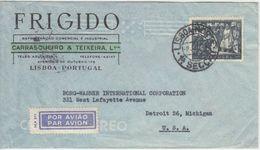 Portugal - 1,75 E 800 J. Rückeroberung Mauren Luftpostbrief N. USA Lissabon 1948 - Unclassified