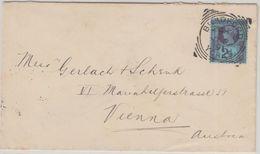 England - 2 1/2 P Victoria Prachtbrief N ÖSTERREICH Bradford Wien Mariahilf 1891 - Non Classés