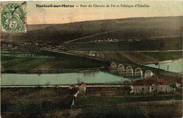 CPA NANTEUIL-sur-MARNE - Pont Du Chemin De Fer Et Fabrique D'Echelles (436591) - Frankrijk