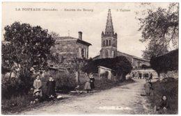 33 - B58526CPA - LA POUYADE - Entree Du Bourg -eglise - Bon état - GIRONDE - France