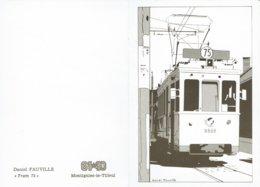 MONTIGNIES-LE TILLEUL-TRAM 75-ILLUSTRATEUR DANIEL FAUVILLE - Montigny-le-Tilleul