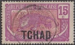 Tchad - N° 06 (YT) N° 6 (AM) Oblitéré. - Chad (1922-1936)