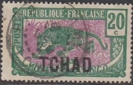 Tchad - N° 07 (YT) N° 7 (AM) Oblitéré. - Chad (1922-1936)