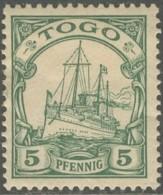 Togo Occupation Allemande - N° 08 (YT) N° 20 (AM) Neuf *. Trace De Pli. - Nuevos