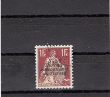 Suisse - 1942/44 - Oblit. - N°YT 42a - BIT Papier Gaufré 1fr Carmin - Servizio