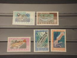 URUGUAY - P.A. 1968 PESCI 5 VALORI - NUOVI(++) - Uruguay