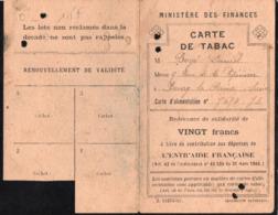 Vieux Papiers > Cartes > Non Classés Carte De Tabac - Mappe