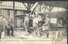 BUC PARIS ROME 28 MAI 1911 APPAREIL MORANE PILOTE PAR FREY FAISANT SON PLEIN D'AUTOMOBILINEpli Bas Droit - Buc