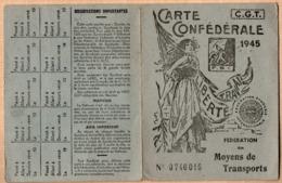 Vieux Papiers > Cartes > Non Classés Carte Confederale C.G.T 1945 - Mappe