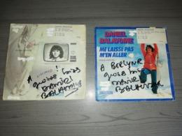 Daniel Balavoine 2 Single Avec Autographes - Autógrafos