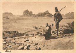 ASCARI - PERIODO COLONIALE ITALIANO - FORMATO GRANDE - NON LUCIDA Viaggiata - (rif. O19) - Eritrea