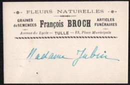 Vieux Papiers > Cartes > Non Classés Carte TULLE Articles Funeraires F.BROCH - Mappe