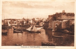 12603 - Pantelleria - Panorama Di Pantelleria E Castello Medioevale F - Trapani