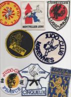 JUDO Lot De 8 écussons Tissu - Sports De Combat