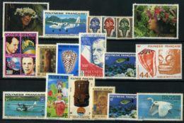 POLYNESIE : LOT  DE TIMBRES  NEUFS  AVEC  ET  SANS  TRACE  DE  CHARNIERE  MAIS  GOMME  JAUNIE , A SAISIR . - Polynésie Française