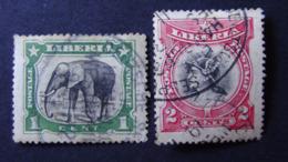 Liberia - 1906 - Mi:LR 93,94 - Sn:LR 101,102 - Yt:LR 84,85 O - Look Scan - Liberia