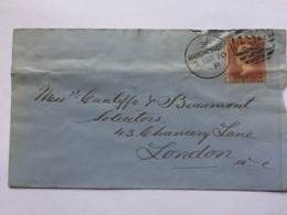 GB Victoria 1870 Cover Manchester To London Tied With Penny Red - 1840-1901 (Victoria)