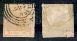 ANTICHI STATI ITALIANI - LOMBARDO VENETO - 1850 - 5 Cent (1h) Usato (300) - Ohne Zuordnung