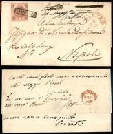 ANTICHI STATI ITALIANI - NAPOLI - Lettera Da Lecce A Napoli Del 10.5.59 Col 2 Grana (5) Ferma In Posta (per Destinatario - Sellos