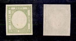 ANTICHI STATI ITALIANI - NAPOLI - 1861 - Prove - Mezzo Tornese (17ala) Gommato Al Recto  Senza Effigie - Gomma Integra - Ohne Zuordnung